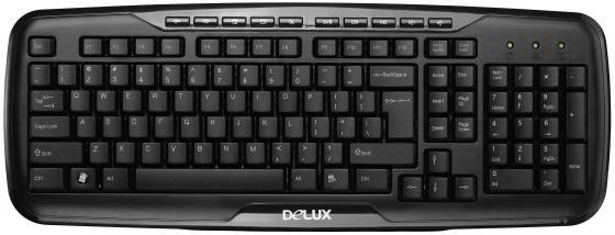 Клавиатура проводная Delux DLK-6200 USB черный клавиатура delux dlk 1500 usb черный
