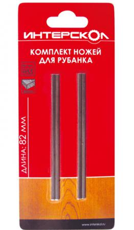 Комплект ножей для рубанка Интерскол быстрорежущая сталь 82х6х1,2 2090908200120 комплект ножей для рубанка интерскол твердосплавная сталь 102х6х1 2 2091910200120