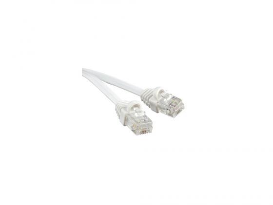 Патч-корд телефонный Hyperline PCM-RJ12-RJ12-5M-WH 5м литой 5м белый ковролин ideal echo 166 5м
