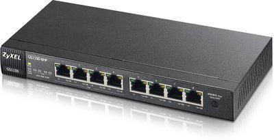 Коммутатор Zyxel GS1100-8HP неуправляемый 8 портов 10/100/1000Mbps PoE коммутатор zyxel gs1900 8 eu0101f