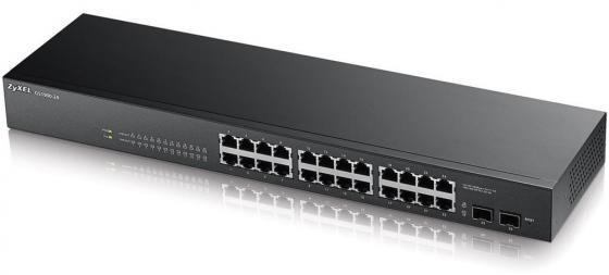 Коммутатор Zyxel GS1900-24 управляемый 24 порта 10/100/1000Mbps 2xSFP коммутатор zyxel gs1900 8 eu0101f