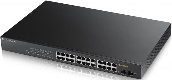 Коммутатор Zyxel GS1900-24HP управляемый 24 порта 10/100/1000Mbps PoE 2xSFP коммутатор zyxel gs1900 8hp управляемый 8 портов 10 100 1000mbps poe