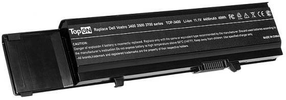 Аккумулятор для ноутбука Dell Dell Vostro 3400 3500 3700 4400мАч 11.1V TopON TOP-3400 клавиатура topon top 100522 для toshiba satellite c800 c805 black