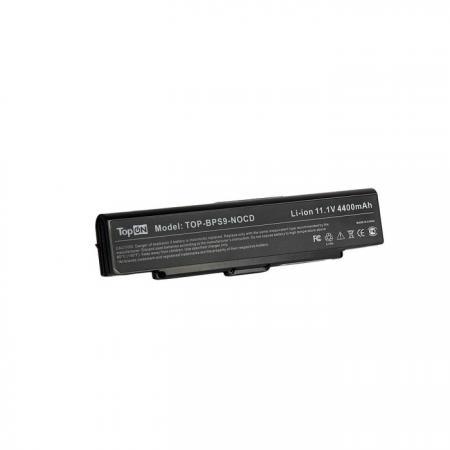 Аккумуляторная батарея TopON TOP-BPS9-NOCD 5200мАч для ноутбуков Sony Vaio VGN-CR VGN-AR VGN-NR VGN-SZ6 S цена
