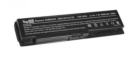 Аккумуляторная батарея TopON TOP-300U 6600мАч для ноутбуков Samsung 300U 300U1A 300U1Z N310 N315 NC310 N311 X118 X120 X170 X171 аккумуляторная батарея topon top zv5000h 6600мач для ноутбуков hp nx9100 nx9110 pavilion zx5000 zv5000 compaq presario r3000