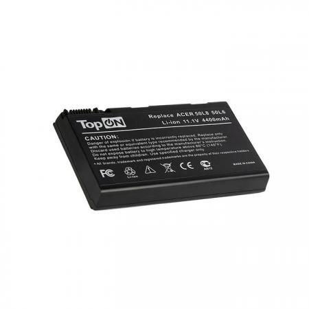 Аккумуляторная батарея TopON TOP-50L6 4800мАч для ноутбуков Acer Aspire 3690 5110 5680 TravelMate 2490 3900 4200 блок питания topon top ac10 для ноутбуков acer aspire 5600u