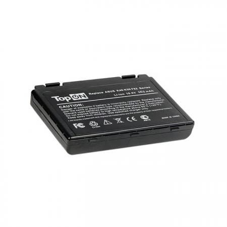 Аккумуляторная батарея TopON TOP-K50 4400мАч для ноутбуков Asus K40 K50 K51 K60 K61 K70 P50 P81 F52 F82 X65 X70 X5 X8 все цены