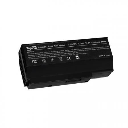 Аккумуляторная батарея TopON TOP-G53 4800мАч для ноутбуков Asus G53 G73 Lamborghini VX7 black 5200mah аккумуляторная батарея для asus a33 m50 a32 m50 a32 x64 15g10n373830 l072051 15g10n373800 90 ned1b2100y