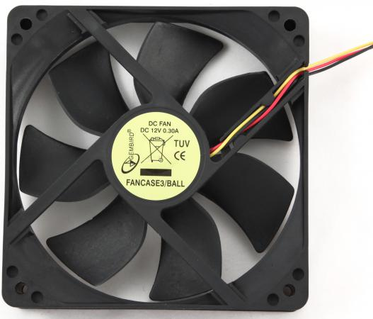 Вентилятор Gembird FANCASE3/BALL 120x120x25 узкий разъем 3pin вентилятор gembird fancase3 ball 120mm