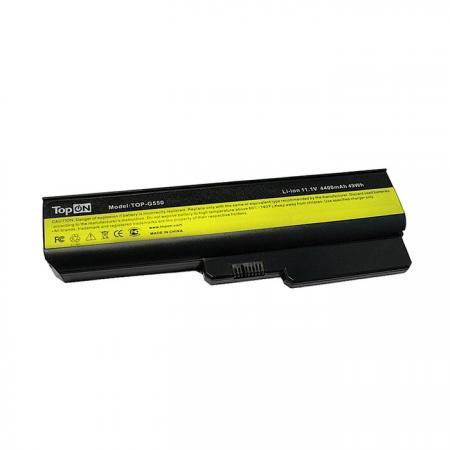 Аккумуляторная батарея TopON TOP-G550 4400мАч для ноутбуков Lenovo IdeaPad G555 G550 G530 B550 G430 G455 B460 G450 цена и фото