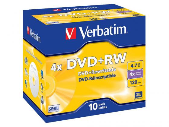 Диски DVD+RW Verbatim 4x 4.7Gb Jewel case 10 шт 43246 джой dvd