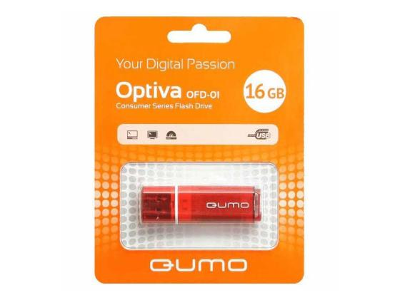 Флешка USB 16Gb QUMO Optiva 01 USB2.0 красный QM16GUD-OP1-red