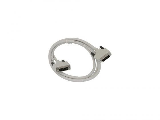 Кабель DVI-DVI 1.8м Dual Link Gembird кабель dvi dvi 10м dual link gembird экранированный ферритовые кольца белый cc dvi2 10m