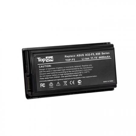 Аккумуляторная батарея TopON TOP-F5 6600мАч для ноутбуков Asus F5M F5N F5Sr F5Z F5RI F5SL F5VI F5VL X5 X50C X50M X50N X50RL X50SL X50VL аксессуар klotz 2rca mini jack ay7 0200