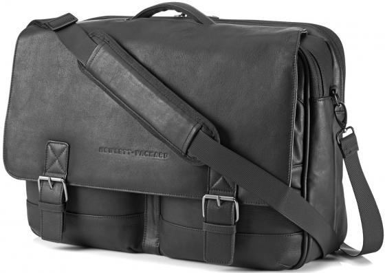 "все цены на Сумка для ноутбука 14"" HP Case Executive Leather Messenger черный K0S31AA онлайн"