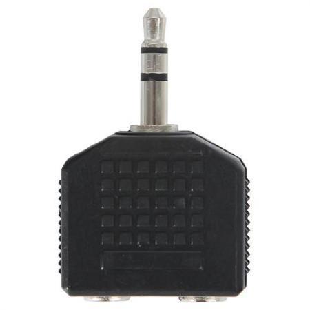 Фото - Адаптер Ningbo 2x3.5 Jack(f) - 3.5 Jack(m) черный JAAA095-B адаптер аудио видео ningbo scart m 3хrca f s video f черный [jsp005]