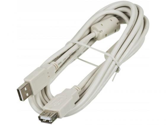 Фото - Кабель удлинительный USB 2.0 AM-AF 3.0м Ningbo с ферритовыми кольцами Blister box 841882 кабель удлинительный usb 2 0 am af 1 8м sven sv 004569