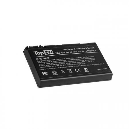 Аккумуляторная батарея TopON TOP-50L8H 4800мАч для ноутбуков Acer Aspire 3690 5110 5680 TravelMate 2490 3900 4230 4260 4280 5210 5510 блок питания topon top ac10 для ноутбуков acer aspire 5600u