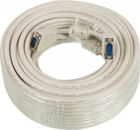 Фото - Кабель VGA 30м Ningbo CAB016S-30m круглый серый кабель vga 1 8м ningbo 2 фильтра cab016s 06f