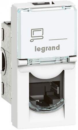 Розетка Legrand Mosaic RJ-45 UTP кат.6 1 модуль белый 76561