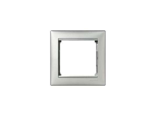 Рамка Legrand Valena одноместная алюминий 770151