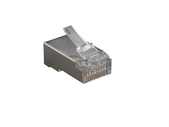 Разъем Hyperline PLUG-8P8C-U-C6-SH RJ-45 8P8C категория 6 экранированный коннектор безинструментальный 8p8c компьютерный разъем u utp cat 5e rj 45 10 0218
