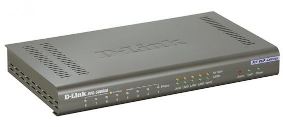 Шлюз VoIP D-Link DVG-5008SG/A1A 8xFXS RJ-11 4xLAN 1xWAN 10/100Mbps SIP шлюз voip d link dvg 6004s 4xfxo rj 11 4xlan 1xwan 10 100mbps sip