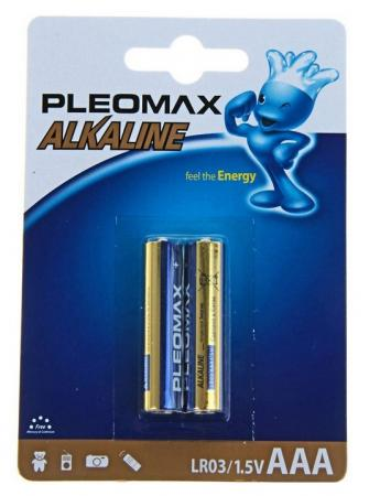 Батарейки Samsung Pleomax AAA 2 шт LR03-2BL батарейки samsung pleomax lr6 10 шт aa