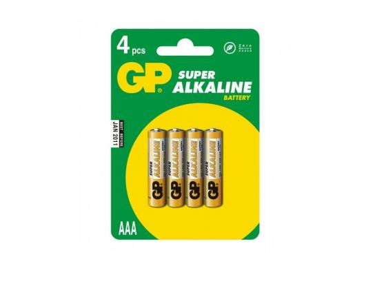 Батарейки GP Super Alkaline 24ACR4-UE4 AAA 4 шт ag8 lr55 1 55v alkaline cell button batteries 10 piece pack