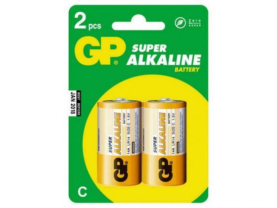 где купить Батарейки GP Super 14A2-CR2 LR14 2 шт дешево