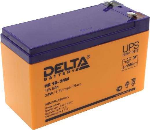 Батарея Delta HR 12-34W 9Ач 12B батарея delta hrl 12 9 12 34w 12v 9ah battary replacement apc rbc17 rbc24 rbc110 rbc115 rbc116 rbc124 rbc133