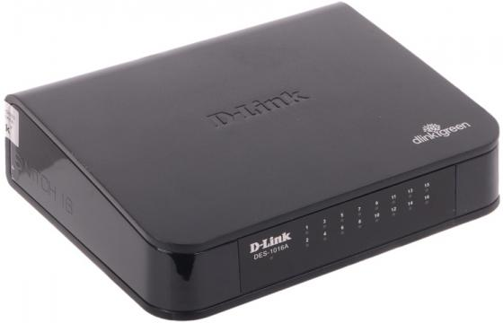 Коммутатор D-LINK DES-1016A/E1B неуправляемый  портов /100Mbps