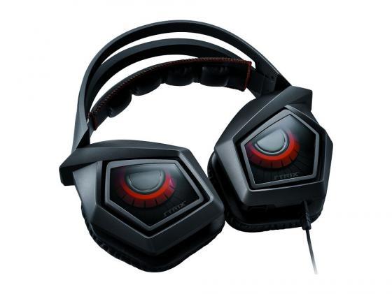 Гарнитура Asus Strix Pro черный/оранжевый 90YH00B1-M8UA00 гарнитура asus strix dsp 90yh00a1 m8ua00