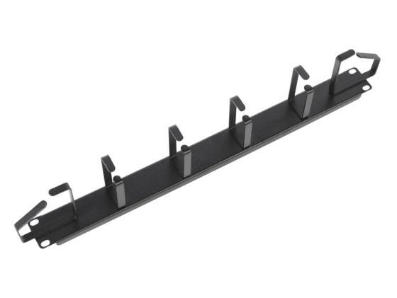 Горизонтальный кабельный органайзер ЦМО 19 1U 6 колец ГКО-1-6-9005 черный кабельный органайзер горизонтальный цмо сб 9005 односторонний кольца 1u шир 19 глуб 93мм