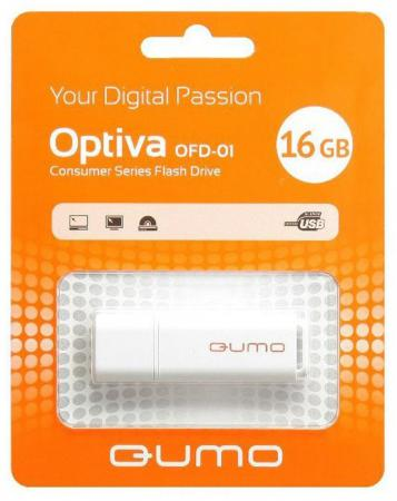 Флешка USB 16Gb QUMO Optiva 01 USB2.0 белый QM16GUD-OP1-white флешка usb 16gb qumo optiva 01 usb2 0 белый qm16gud op1 white