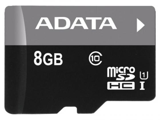 Карта памяти Micro SDHC 8Gb Class 10 UHS-I A-Data AUSDH8GUICL10-RA1 + адаптер SD 1 5m 3m black high speed data transfer usb 2 0 male to male scanner printer cable sync data charging wire cord for dell hp canon