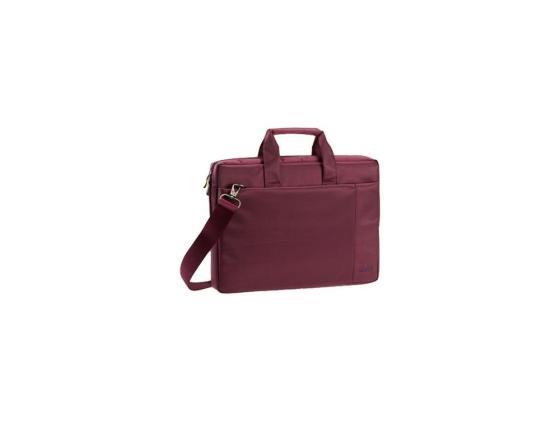 """все цены на Сумка для ноутбука 15"""" Riva 8231 полиэстер пурпурный"""
