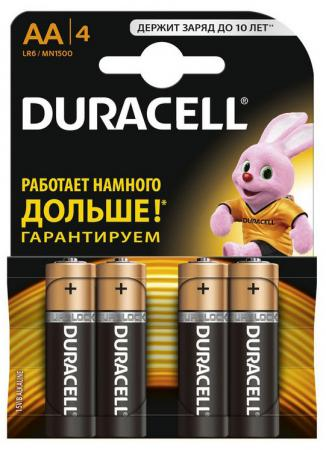 Батарейки Duracell Basic LR6-4BL AA 4 шт duracell cef14 4 hour charger