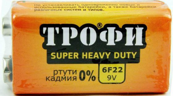 Батарейка ТРОФИ Крона 6F22 1 шт