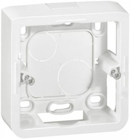 Монтажная коробка Legrand Mosaic 2 модуля глубина 40мм для суппорта 802 51 белый 80281