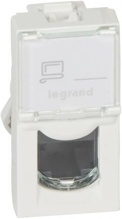 Розетка Legrand Mosaic RJ-45 UTP кат.5e 1 модуль белый LCS2 76551 розетка legrand mosaic rj 45 utp кат 5e 1 модуль белый lcs2 76551