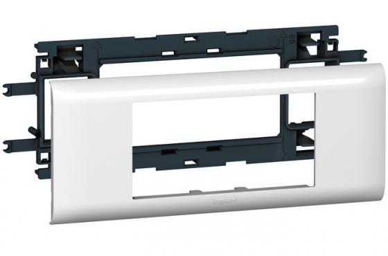 Суппорт Legrand Mosaic на 4 модуля шириной 65мм белый 10954