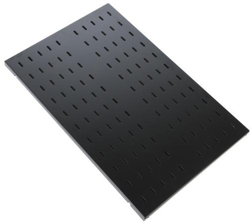 лучшая цена ЦМО Полка перфорированная грузоподъёмностью 100 кг глубина 750 мм СВ-75У-9005 черный