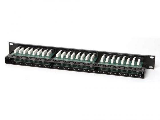 """цена на Патч-панель Hyperline PPHD-19-48-8P8C-C5e-110D высокой плотности 19"""" 1U 48 порта RJ-45 категория 5e Dual IDC"""