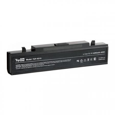 Аккумуляторная батарея TopON TOP-R519 6600мАч для ноутбуков Samsung R418 R425 R428 R430 R468 R470 R480 R505 R507 R510 R517 R519 R520 R525 R580 R730 RV410 RV440 RV510 RF511 RF711 аккумулятор samsung r428 r429 r430 r463 r464 r465 r466 r467 r468 r469 r470 r480 r590 p480 aa pb9ns6b pb9nc6b pitatel 4400mah bt 956b