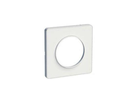 Рамка 1 пост белый ODACE / SCH-S52P802 / Рамка 1 пост белый ODACE рамка schneider electric 268303 odace 2 м полиров алюм s52p804j