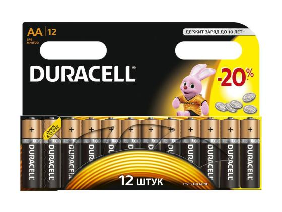 Батарейки Duracell Basic AA 12 шт LR6-12BL батарейки duracell mn21 b1 security 12v alcaline