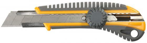 Нож Stayer MASTER с сегментированным лезвием пластмасс 18мм 09161 лента stayer master клейкая прозрачная 48ммх60м 1204 50