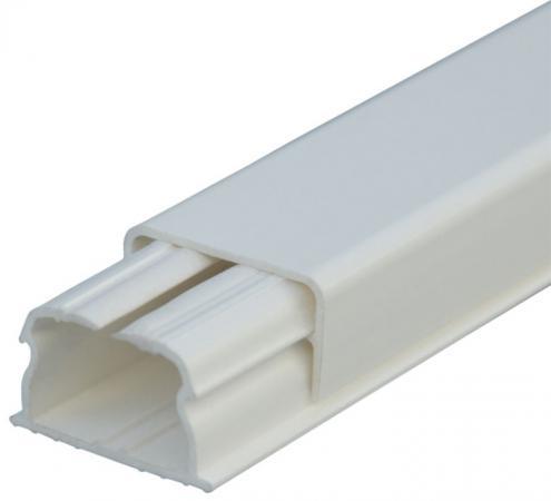 Мини плинтус Legrand DLPLUS 1 отделение плоский 2,1м 20х12.5мм белый 30008