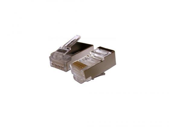 Упаковка коннекторов RJ-45 FTP 5e 8P8C 100шт коннектор rj 45 ftp 6 8p8c со вставкой